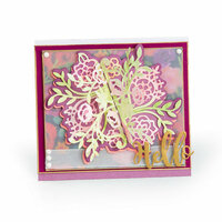 Sizzix - Let's Celebrate Collection - Thinlits Die - Floral Bunch Flip and Fold