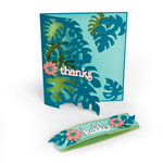 Sizzix - Tropicool Vibes Collection - Thinlits Die - Card Front, Tropicool Leaves