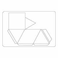 Sizzix - Tropicool Vibes Collection - Bigz L Die - Geometric Holder, Tall 3-D