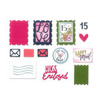 Sizzix - Envelope Liners Collection - Framelits Die with Clear Acrylic Stamp Set - Postage Stamps