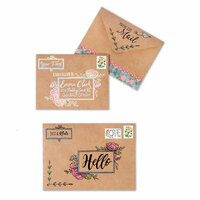 Sizzix - Envelope Liners Collection - Clear Acrylic Stamps - You've Got Mail