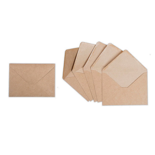 Sizzix - Envelope Liners Collection - Envelopes, A7, 6 Kraft