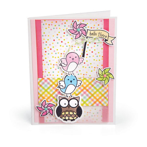 Sizzix - Framelits Die with Clear Acrylic Stamp Set - Celebration Critters