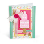 Sizzix - Framelits Die with Clear Acrylic Stamp Set - Make a Wish Cake