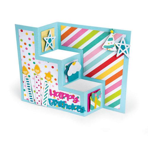 Sizzix - Thinlits Die - Card, Birthday Shutter