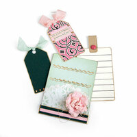 Sizzix - Book Club Collection - Framelits Die - Credit Card Sleeve and Tags