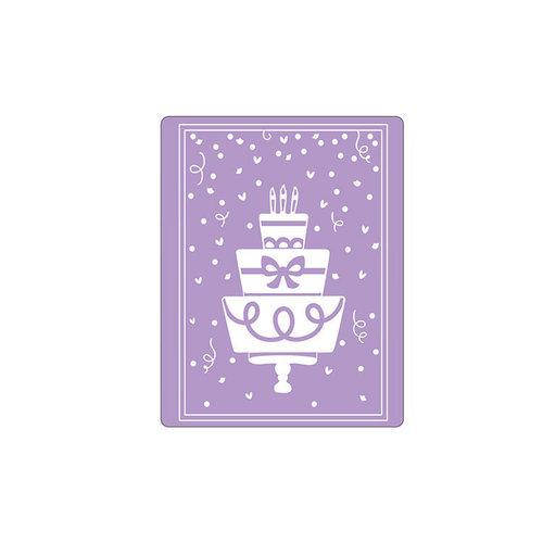 Sizzix - Impresslits - Embossing Folder - Birthday Cake