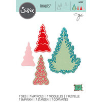 Sizzix - Thinlits Die - Fairy Set Background Trees