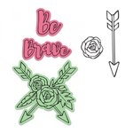 Sizzix - Framelits Die with Clear Acrylic Stamp Set - Be Brave