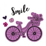 Sizzix - Framelits Die with Clear Acrylic Stamp Set - Bicycle 2