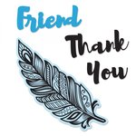 Sizzix - Framelits Die with Clear Acrylic Stamp Set - Decorative Feather