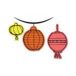 Sizzix - Framelits Die with Clear Acrylic Stamp Set - Lanterns