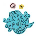 Sizzix - Framelits Die with Clear Acrylic Stamp Set - Mermaid
