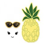 Sizzix - Framelits Die with Clear Acrylic Stamp Set - Sunny Pineapple