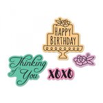Sizzix - Framelits Die with Clear Acrylic Stamp Set - Simple Sentiments