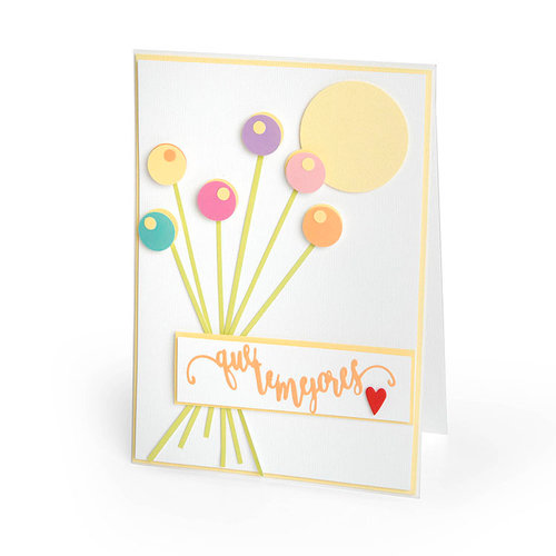 Sizzix - Celebrating Life Collection - Thinlits Die - Que Te Mejores
