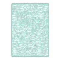Sizzix - Celebrating Life Collection - Textured Impressions - Embossing Folders - Crocodile