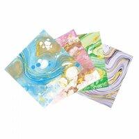 Sizzix - Metallic Marble Adhesive Sheets - 6 x 6 - 8 Sheets
