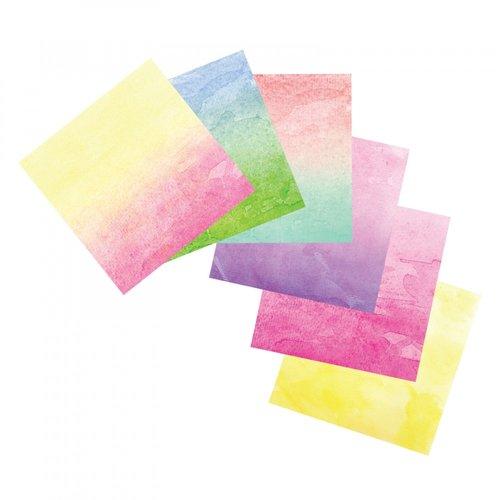 Sizzix - Watercolor Wash Sheets - 6 x 6 - 12 Sheets