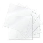 Sizzix - Thermoplastic Sheets - 6 x 6 - Clear - 6 Sheets