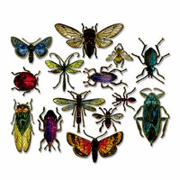 Sizzix - Tim Holtz - Alterations Collection - Framelits Die - Entomology