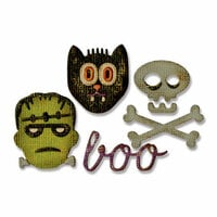 Sizzix - Tim Holtz - Alterations Collection - Sidekick - Side-Order Set - Thinlits Die and Texture Fades - Halloween