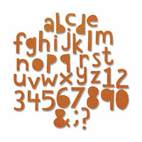 Sizzix - Tim Holtz - Alterations Collection - Thinlits Die - Alphanumeric, Cutout Lower