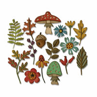 Sizzix - Tim Holtz - Alterations Collection - Thinlits Die - Funky Foliage