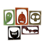 Sizzix - Tim Holtz - Alterations Collection - Halloween - Thinlits Die - Halloween Hangouts