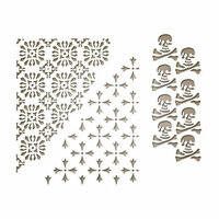 Sizzix - Tim Holtz - Alterations Collection - Halloween - Thinlits Die - Mixed Media Halloween 2