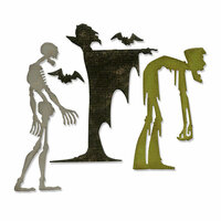 Sizzix - Tim Holtz - Alterations Collection - Halloween - Thinlits Die - Ghoulish