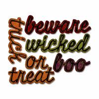 Sizzix - Tim Holtz - Alterations Collection - Halloween - Thinlits Die - Shadow Script Halloween
