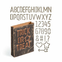Sizzix - Tim Holtz - Alterations Collection - Halloween - Thinlits Die - Treat Bag