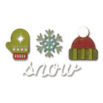 Sizzix - Tim Holtz - Alterations Collection - Sidekick - Side-Order Set - Thinlits Die and Texture Fades - Winter