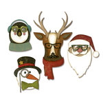Sizzix - Tim Holtz - Alterations Collection - Christmas - Thinlits Die - Cool Yule