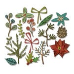 Sizzix - Tim Holtz - Alterations Collection - Christmas - Thinlits Die - Funky Festive