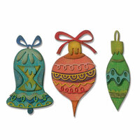 Sizzix - Tim Holtz - Alterations Collection - Christmas - Thinlits Die - Whimsy Decor