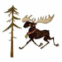 Sizzix - Tim Holtz - Alterations Collection - Christmas - Thinlits Die - Merry Moose