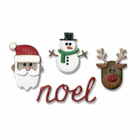 Sizzix - Tim Holtz - Alterations Collection - Sidekick - Side-Order Set - Thinlits Die and Texture Fades - Christmas