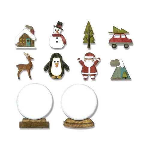 Sizzix - Tim Holtz - Alterations Collection - Thinlits Die - Tiny Snowglobes