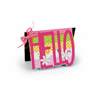 Sizzix - Cards That Wow Collection - Framelits Die - Card, Hello Drop-ins