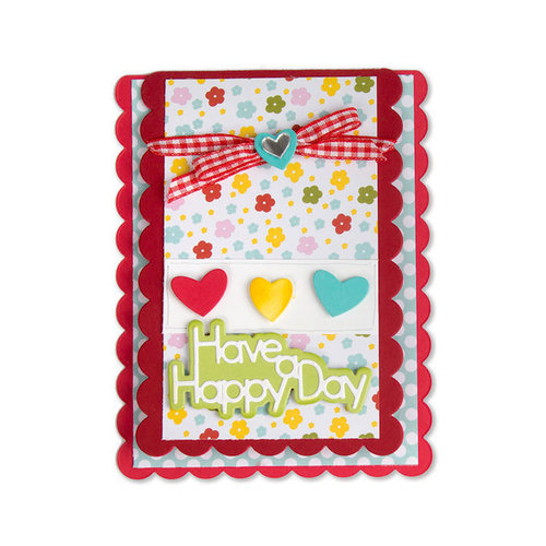 Sizzix - Cards That Wow Collection - Framelits Die - Card, Scallop Drop-ins