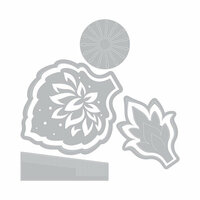 Sizzix - Celebrations Collection - Framelits Die with Clear Acrylic Stamp Set - Lace Flower