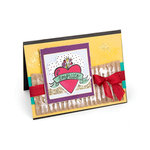 Sizzix - My Happy Life Collection - Framelits Die with Clear Acrylic Stamp Set - Amorcito