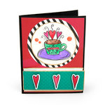 Sizzix - My Happy Life Collection - Framelits Die with Clear Acrylic Stamp Set - Mi Cafecito Mi Amor