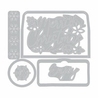 Sizzix - Winter Greetings Collection - Framelits Die with Clear Acrylic Stamp Set - Envelope Liners, Mini