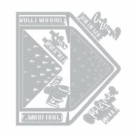 Sizzix - Winter Greetings Collection - Framelits Die - Envelope Liners, A2 and A7, Christmas