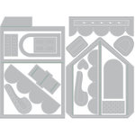 Sizzix - Winter Greetings Collection - Thinlits Die - Mini Pop-Up House