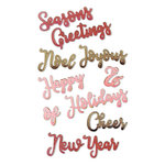 Sizzix - Holiday Blessings Collection - Thinlits Die - Christmas Phrases 2
