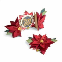 Sizzix - Holiday Blessings Collection - Thinlits Die - Card, Poinsettia Fold-a-Long